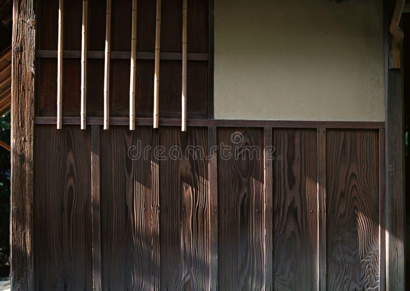 Fondo di legno dei dettagli del lavoro delle pareti giapponesi immagine stock libera da diritti