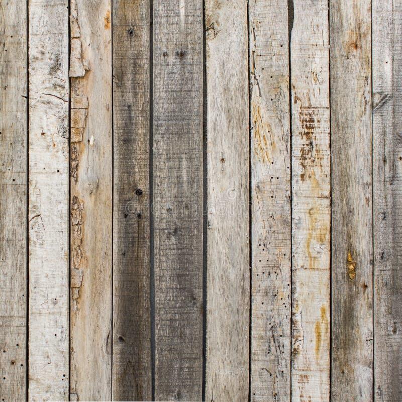 Fondo di legno del granaio stagionato rustico con i nodi ed i fori di chiodo immagine stock
