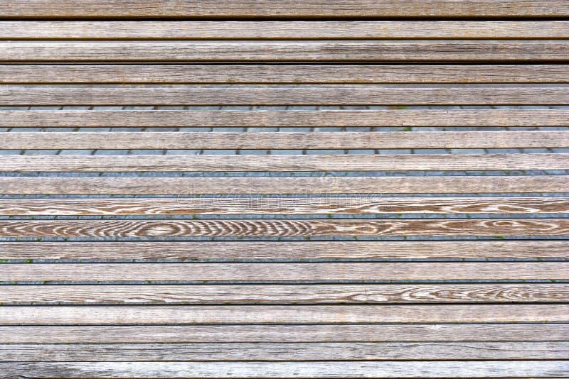 Fondo di legno del materiale di struttura di griglia della plancia immagine stock libera da diritti
