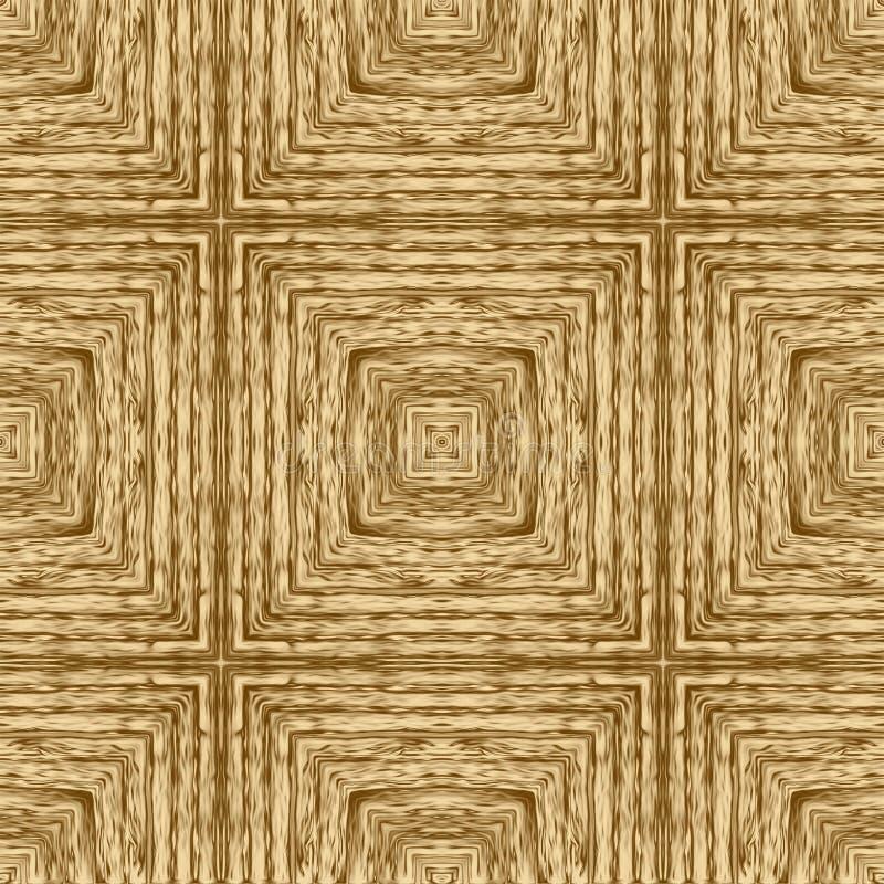 Fondo di legno del modello dell'oro e carta da parati astratta, retro illustrazione di stock
