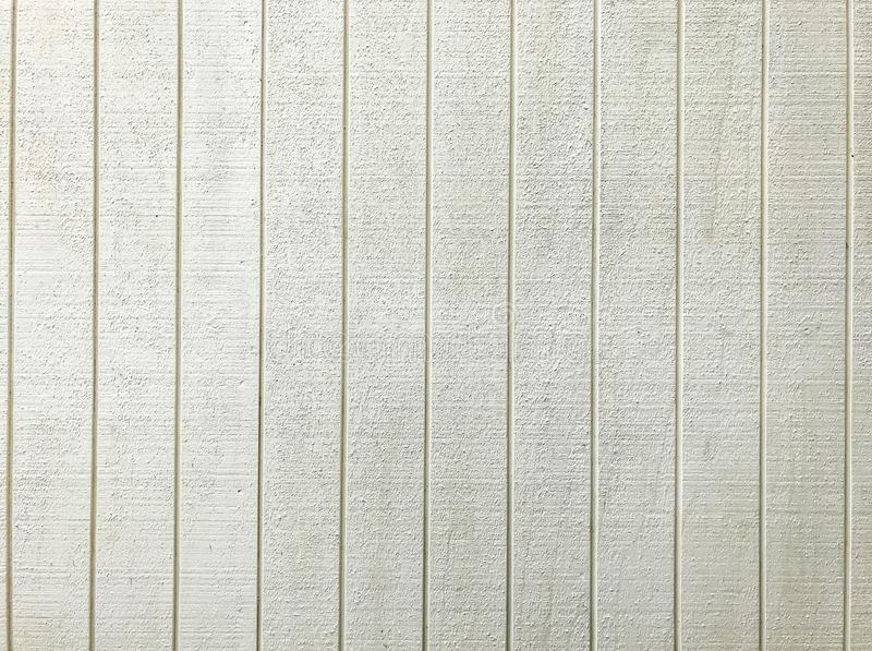 Fondo di legno del modello del pannello del recinto dipinto bianco Concetto di progetto interno ed esteriore della struttura per  fotografia stock libera da diritti