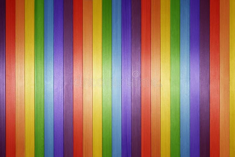 Fondo di legno dell'arcobaleno fotografia stock libera da diritti