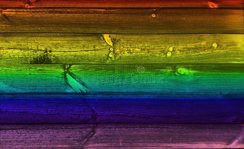 Fondo di legno dell'arcobaleno immagini stock libere da diritti