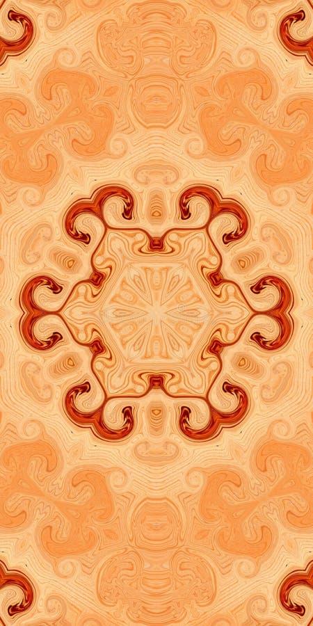 Fondo di legno dell'estratto di simmetria del modello wallpaper illustrazione di stock