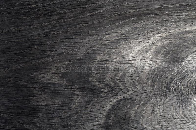 Fondo di legno della parete della quercia tintoria, struttura del legno scuro della corteccia con il vecchio modello naturale per fotografia stock