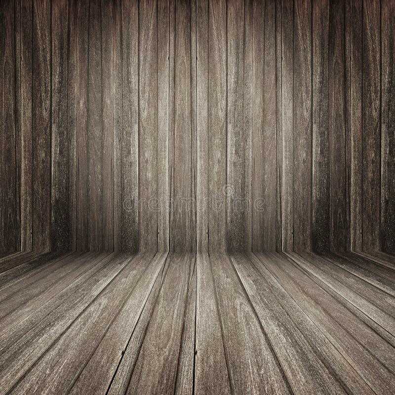 Fondo di legno della stanza di Brown immagine stock