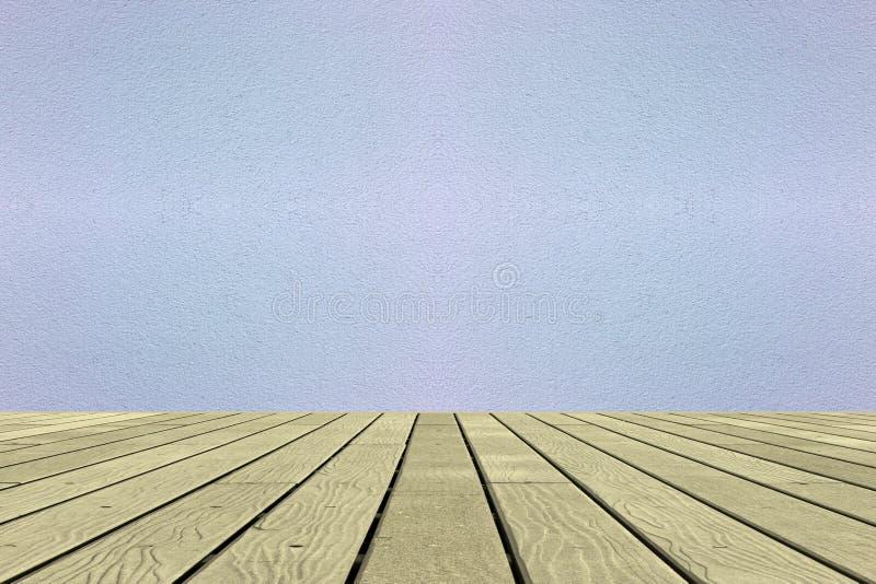 Fondo di legno delle pareti del cemento e dei pavimenti immagine stock