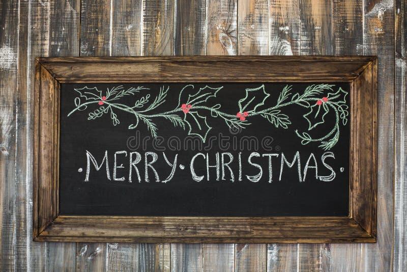 Fondo di legno di Natale immagine stock