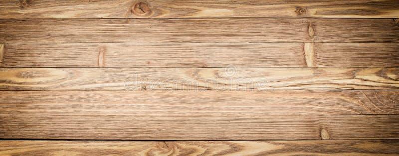 Fondo di legno di panorama Primo piano di legno leggero di struttura Plancia t fotografia stock