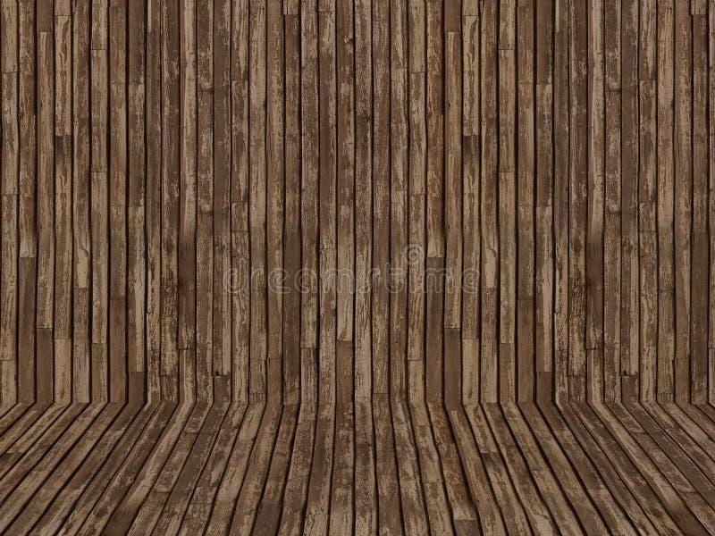 Fondo di legno di struttura illustrazione di stock