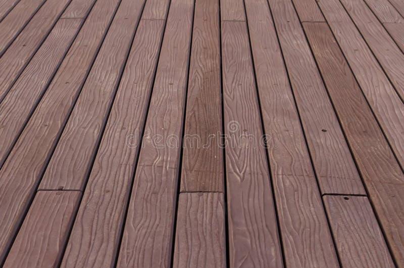 Fondo di legno di struttura della parete della plancia di Brown fotografia stock libera da diritti