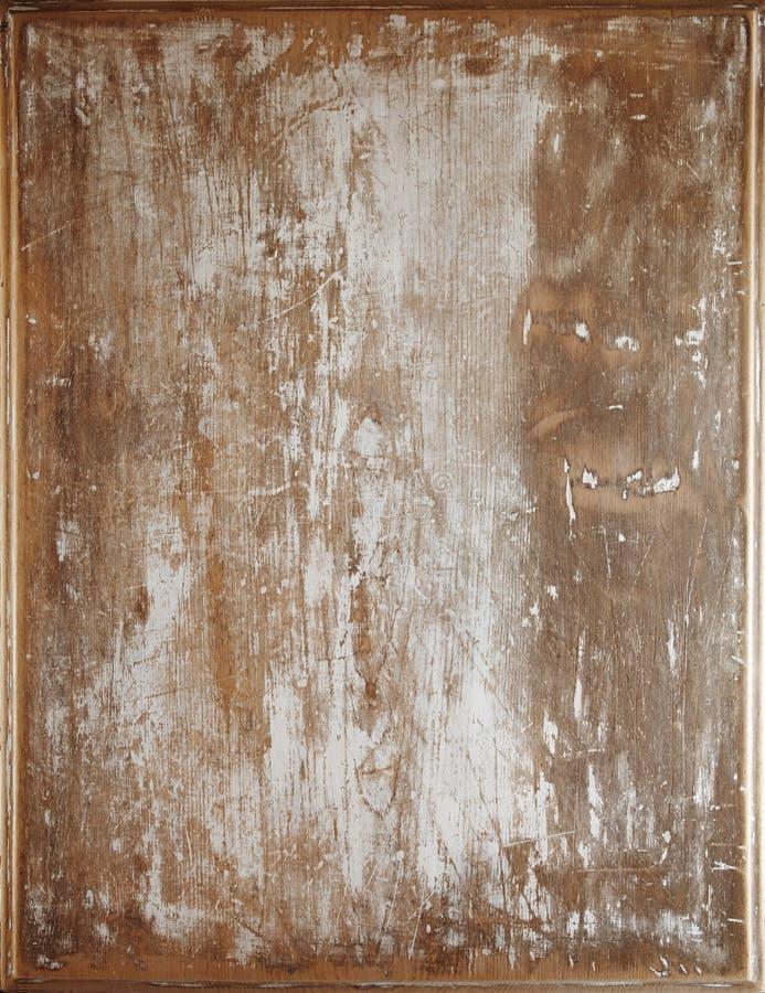 Fondo di legno dipinto bianco incrinato sopravvissuto immagini stock