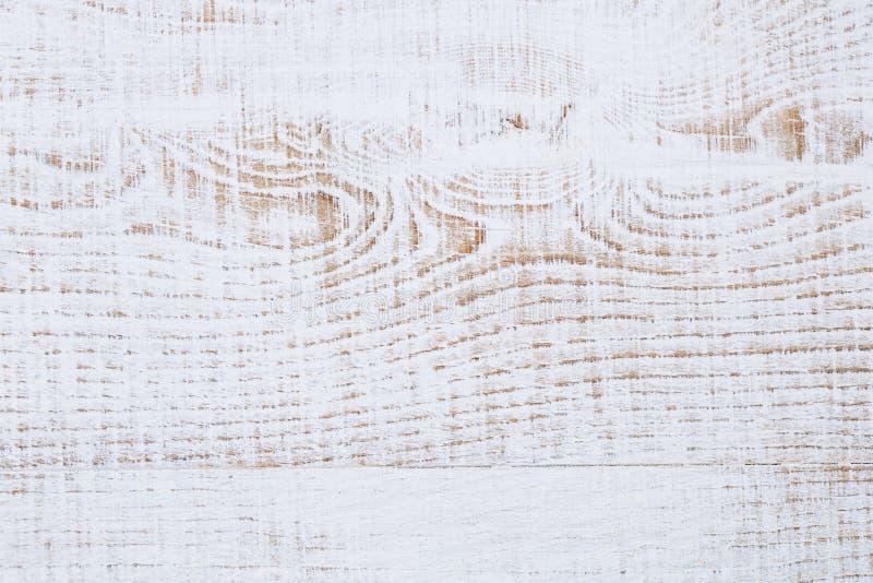 Fondo di legno dipinto bianco incrinato sopravvissuto fotografie stock libere da diritti