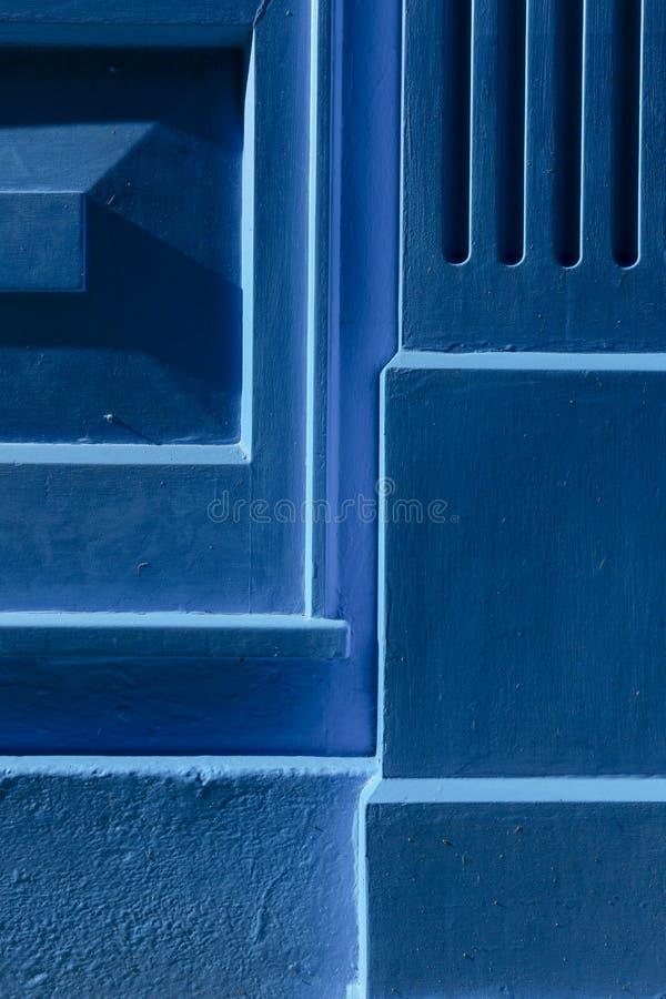Fondo di legno dipinto blu fotografie stock libere da diritti