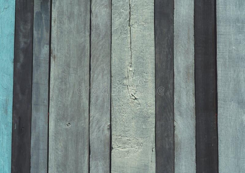 Fondo di legno grigio, nero e blu di struttura Contesto di legno Struttura della superficie ruvida del pannello di legno Annata e immagine stock libera da diritti