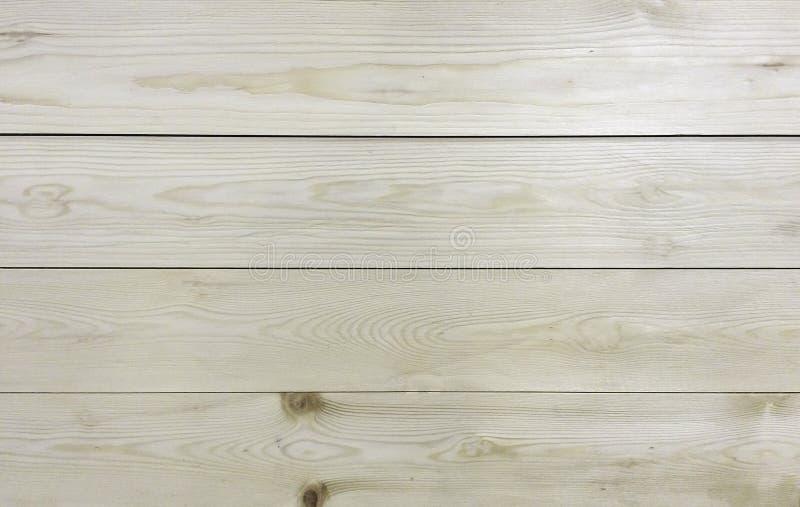 Fondo di legno leggero classico di struttura della plancia del pannello di Brown e di bianco per il materiale della mobilia immagini stock