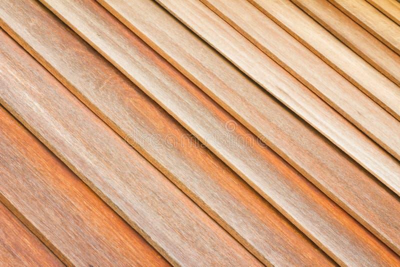 Fondo di legno marrone di struttura della parete della plancia del primo piano immagini stock