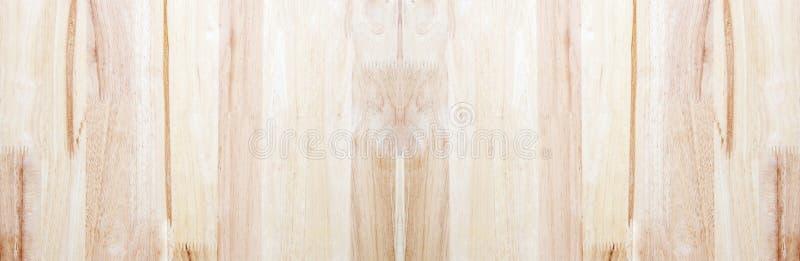Fondo di legno naturale marrone chiaro Struttura di legno della tavola di lerciume del primo piano Bandiera panoramica fotografie stock