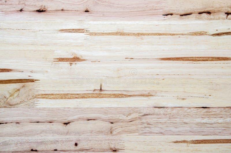 Fondo di legno naturale marrone chiaro Struttura di legno della tavola di lerciume del primo piano fotografia stock