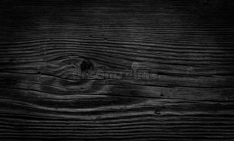 Fondo di legno nero d'annata fotografie stock libere da diritti