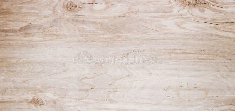 Fondo di legno di panorama Primo piano di legno leggero di struttura Plancia t immagine stock