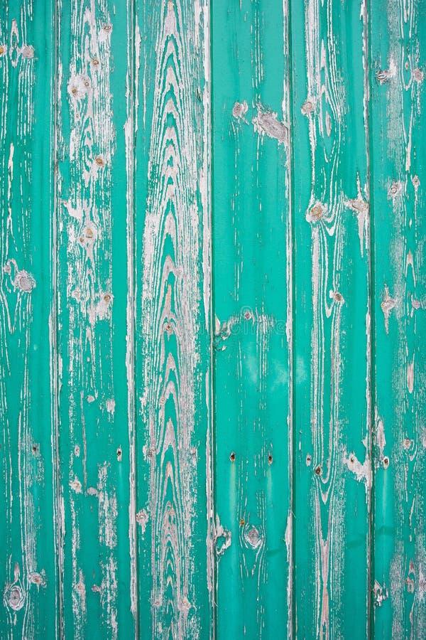 Fondo di legno reale verde di struttura D'annata e vecchio fotografia stock