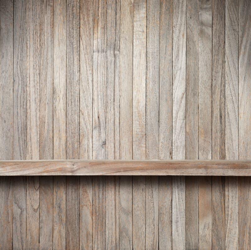 Fondo di legno rustico dello scaffale fotografia stock