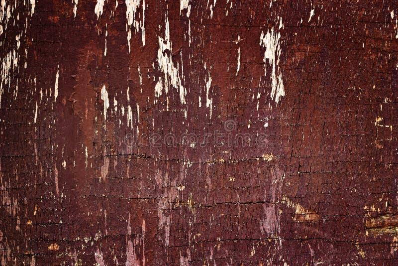 Fondo di legno scuro rosso di lerciume e marcio di struttura fotografia stock libera da diritti