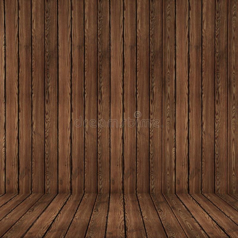 Fondo di legno stagionato di raccordo del pavimento e della parete, struttura di legno fotografia stock