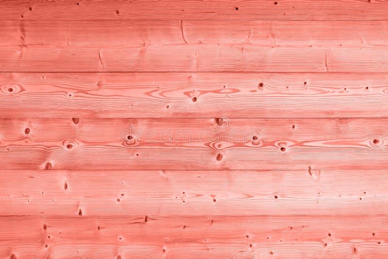 Fondo di legno tonificato rosa di corallo delle plance dell'annata fotografie stock