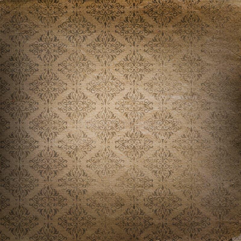 Fondo di lerciume con il modello di stile del damasco illustrazione di stock