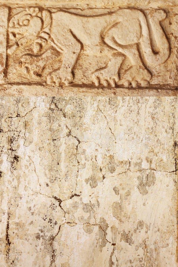 Fondo di lerciume con struttura dello stucco e la scultura di bassorilievo di fotografie stock