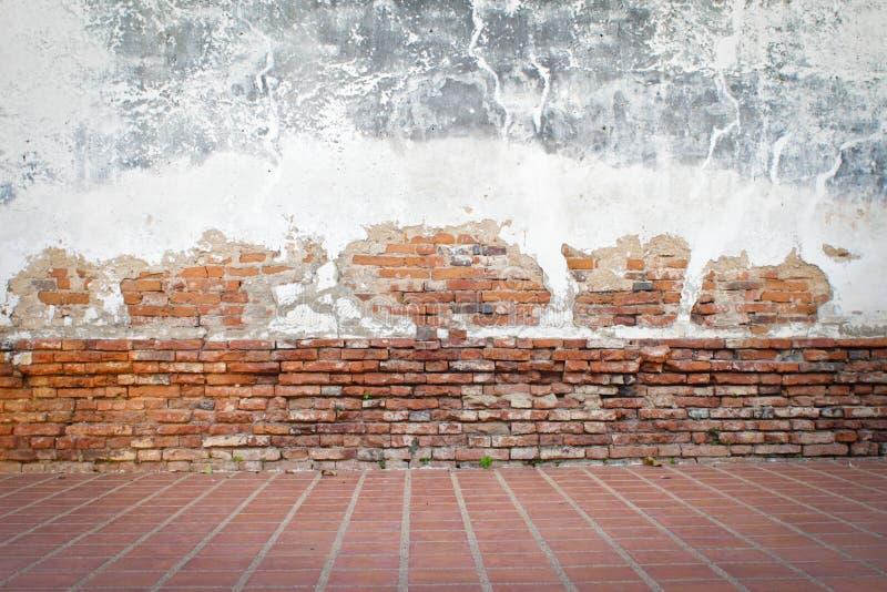 Fondo di lerciume, struttura rossa del muro di mattoni immagine stock libera da diritti