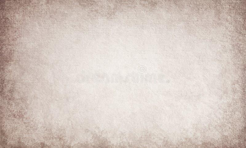 Fondo di lerciume, vecchia struttura di carta, d'annata, retro, posto per testo, beige, ruvido, punti, marrone illustrazione di stock