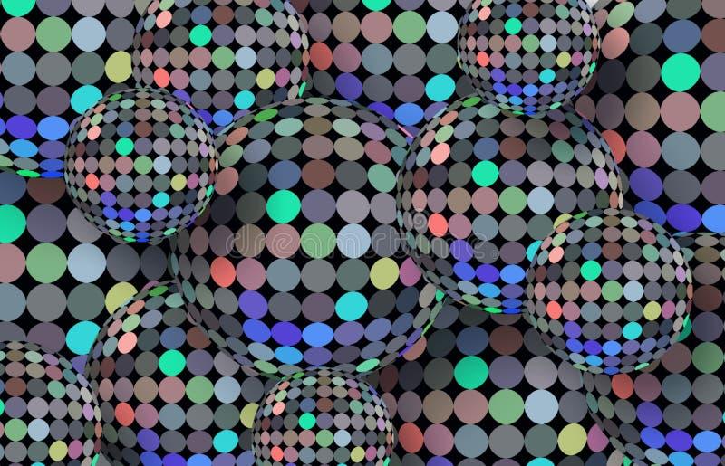 Fondo di luccichio della discoteca Modello di punti creativo Illustrazione variopinta del mosaico dei lighs illustrazione di stock