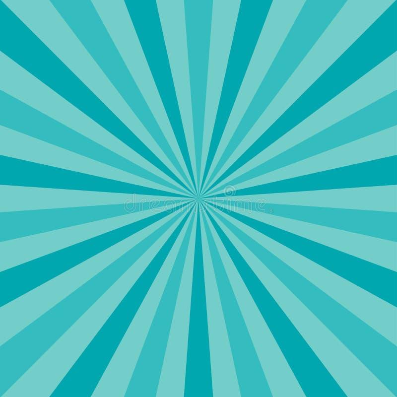 Fondo di luce solare illustrazione di vettore di fantasia del turchese e del blu royalty illustrazione gratis