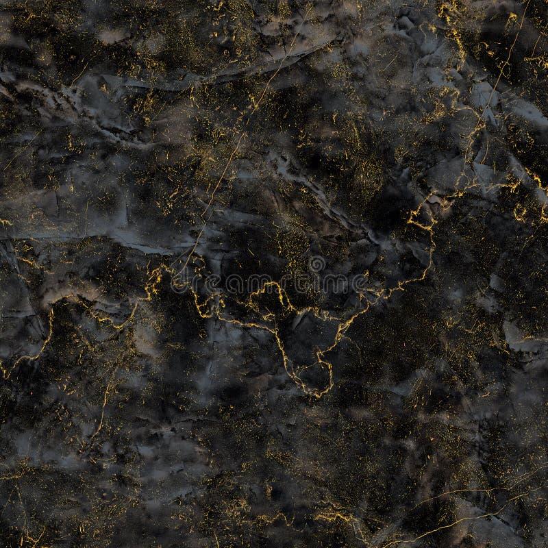 fondo di lusso dell'oro e nero di struttura del marmo della lastra del primo piano immagine stock libera da diritti