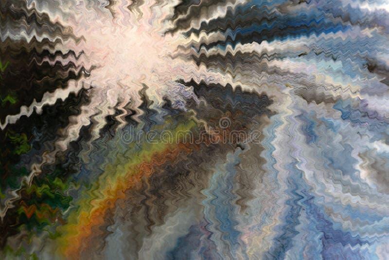 Fondo di marmo molto bello dell'OCEANO di arte Lo stile comprende i turbinii di marmo o delle ondulazioni del lusso naturale dell fotografia stock libera da diritti
