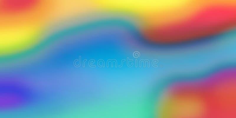 Fondo di miscela di colore, modello iridescente olografico di vettore Fondo fluido liquido del modello di miscela di pendenza del royalty illustrazione gratis