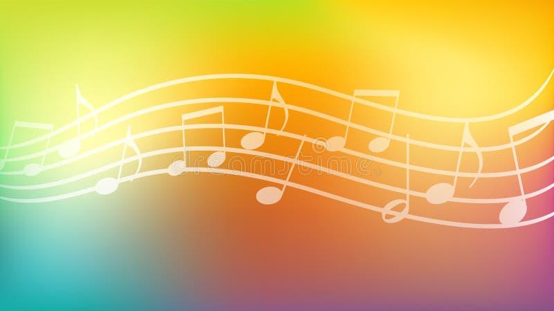 Fondo di musica, carta da parati, estratto, ambiti di provenienza royalty illustrazione gratis