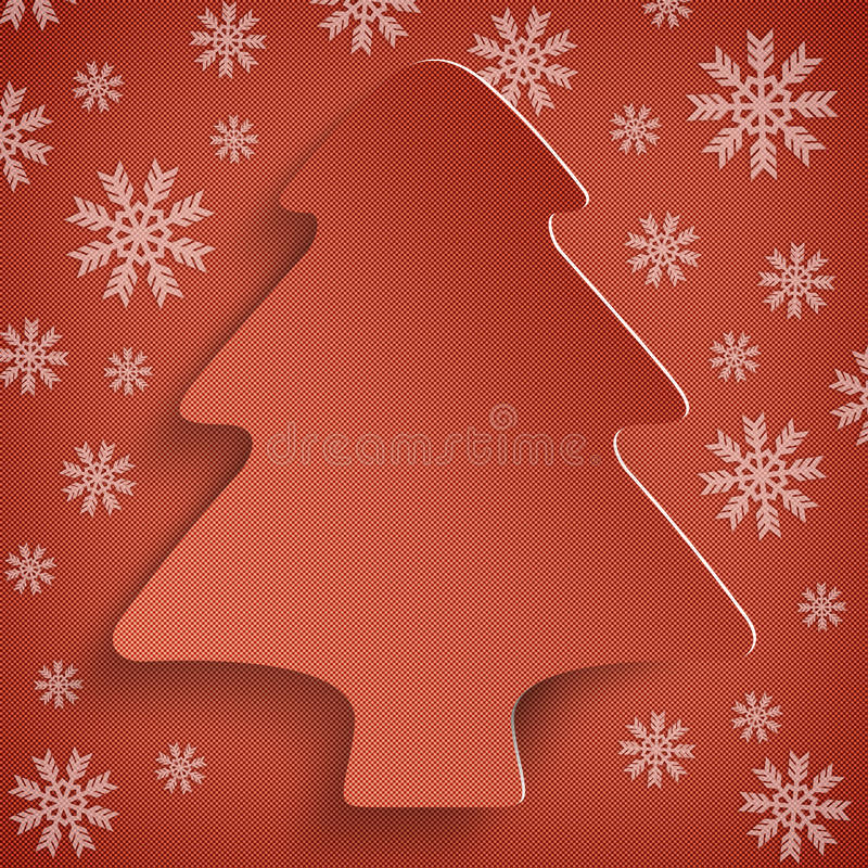 Fondo di Natale - albero astratto di natale illustrazione di stock