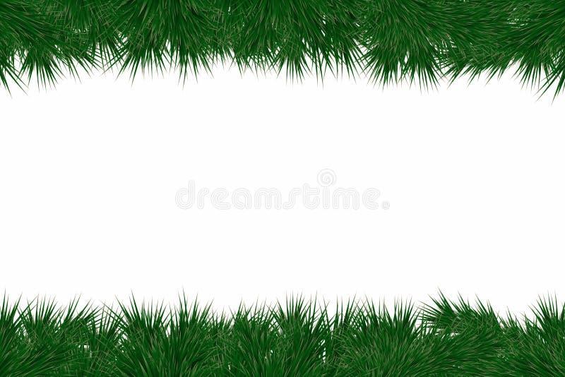 Fondo di Natale con i rami dell'abete La pagina con l'albero di Natale si ramifica per la decorazione delle cartoline d'auguri, i royalty illustrazione gratis