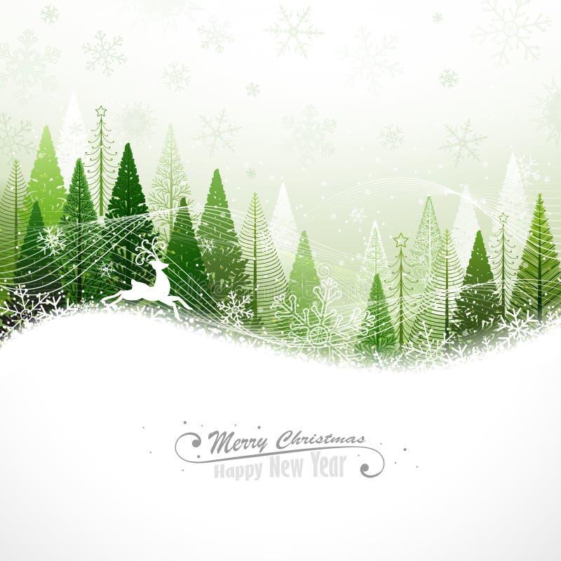 Fondo di Natale con la renna illustrazione di stock