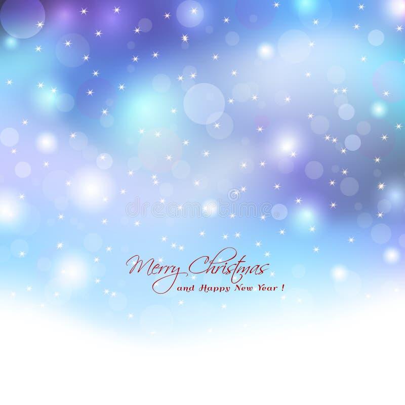 Fondo di Natale con le luci del boket Luci eleganti astratte w illustrazione vettoriale