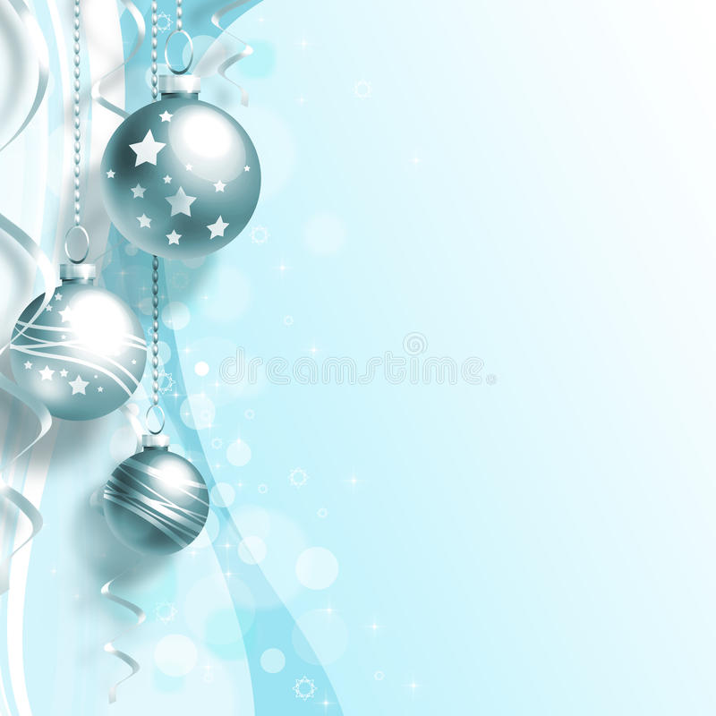 Fondo di Natale con le palle royalty illustrazione gratis