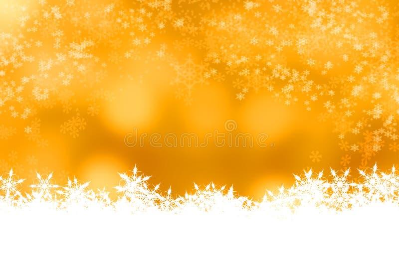 Fondo di natale del bokeh della neve della sfuocatura immagini stock