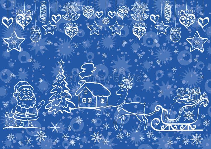 Fondo di Natale di festa royalty illustrazione gratis