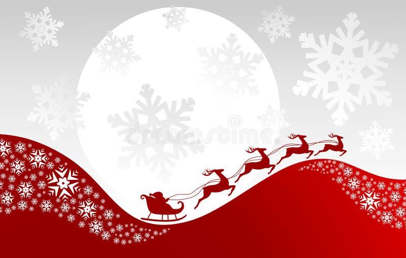 Fondo di Natale di fantasia illustrazione di stock