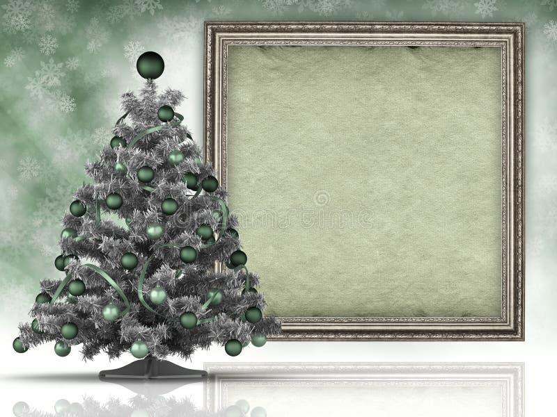 Fondo di natale - l'albero di Natale e la carta rivestono fotografie stock libere da diritti