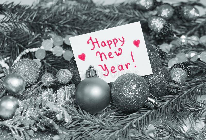 Fondo di Natale nello stile d'annata con una carta per un inscrip fotografia stock